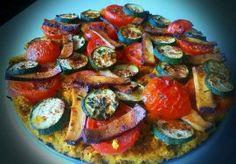 Zapečený kuskus s cuketou, rajčaty a uzeným tofu Vegan V, Yams, Cooking Light, Ratatouille, Tofu, Quinoa, Nom Nom, Ethnic Recipes, Fit