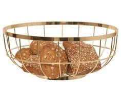 Gold fruit basket