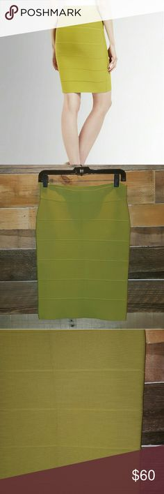 """💚SALE💚🎉HP 8/4/16🎉BCBG MAXAZRIA  BANDAGE SKIRT 🎉🎉🎉🎉🎉HOST PICK 8/4/16 WARDROBE GOALS🎉🎉🎉🎉🎉 BCBG MAXAZRIA FINAL LIKE NEW """"SIMONE"""" BANDAGE POWER SKIRT COLOR DILL SIZE MEDIUM GREAT FOR CASUAL ,WORK, OR NIGHT ON TOWN HEAVY GOOD QUALITY MATERIAL GORGEOUS TIGHT FIT PERFECT SEXY LENGTH!! COLOR IS STUNNING!! *NO TRADES NO MODELING NO RETURNS* BCBGMaxAzria Skirts Midi"""