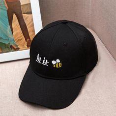 e8484f368b7 Black Let It Bee cap dad hat Black Hats