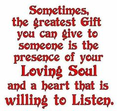 Greatest gift...
