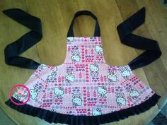 Little Girls Frilly apron with ruffle. Hello by CBCreationsUnique, $22.00