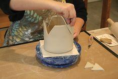 soft slab construction tea pot