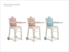 Princess Nursery-Toddler High Chair (3 Swatches) - created by Severinka_