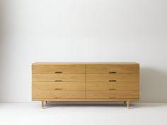 Custom Simple Dresser in White Oak 8 Drawer Dresser, Oak Dresser, Dressers, Solid Wood Dresser, Modern Dresser, Home Decor Furniture, Furniture Design, White Oak, Modern Design