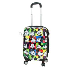 Disney - Mickey Expressions 19 Inch Small 4 Wheel Hardside Suitcase Mickey  Mouse Luggage 51f171b50a49a