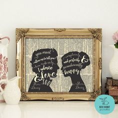 JANE AUSTEN QUOTE. Pride and Prejudice by BlueBunnyPrintables