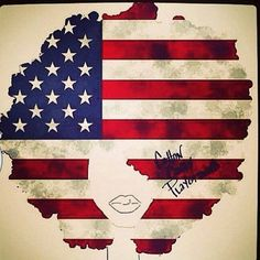 african american, happi fro, happi 4th, flag, art, natur hair, afro american, 4th of july, independence day