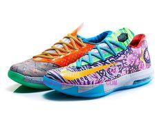 2ca55a6e45e5 Nike KD 6 What The KD Pas Cher Hoop Violet Urgent Orange-Shark 669809