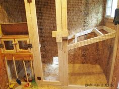 chicken coop: nesting boxes and roost