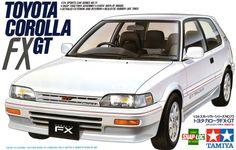 トヨタ カローラ/ TOYOTA COROLLA FX(自動車プラモデルのパッケージ)