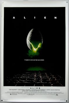 #176 Alien 1979 (Dir. Ridley Scott. With Sigourney Weaver, Tom Skerritt, Yaphet Kotto, Veronica Cartwright, John Hurt, Harry Dead Stanton and Ian Holm)
