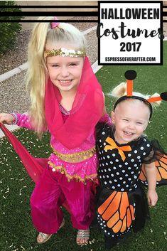 Halloween Costume RECAP! Sharing creative and easy to do costumes for your kiddos. Also a trip down Halloween Costume memory lane though the years. Butterfly Costume - Genie Costume - Kids Halloween Costumes