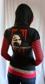 eat me drink me MARILYN MANSON fishnet hoodie