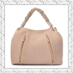 Michael Kors Tonne Hobo Nude Leather Golden only $72