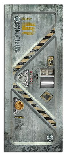 ThinkGeek :: Sci-Fi Door Decals for one side of pillar?