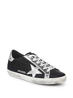 Golden Goose Deluxe Brand Low-Top Lace-Up Leather Sneakers