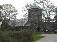 St. Anne's Church in Kennebunkport, ME. It's right next to the ocean, and it's so gorgeous.