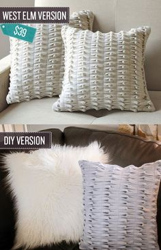 Sew some knotted felt pillows.