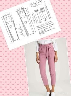 "sewing clothes patterns Tully Pant Sewing Pattern By Style Arc - slim leg elastic ""paper bag"" waist pant. This is a fabulous slim leg elastic paperbag pant by Style Arc. Sewing pattern for women in sizes 16 Tully Paperbag Pant – Sizes 20 – PDF sti Sewing Pants, Sewing Clothes, Dress Sewing Patterns, Clothing Patterns, Fashion Sewing, Diy Fashion, Paperbag Hose, Costura Fashion, Pants Pattern"
