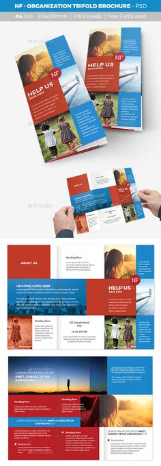 Summer Camp Kids Bi-Fold Brochure Brochures, Psd templates and - sample preschool brochure