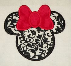$2.95   Mouse Ears With Bow Machine Embroidery Design.  You get two sizes for this design - one for the 4X4 hoop and one for the 5X7 hoop.