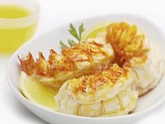 Lobster Tails with Clarified Butter Recipe : Giada De Laurentiis : Food Network - FoodNetwork.com