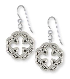 Celtic Knot Father And Daughter Cross Earrings Jewelry Sterling Silver MFC2-E