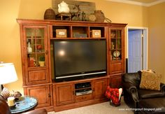 DECORATING TOPS OF ENTERTAINMENT CENTERS PINTEREST | ... the top of the new entertainment center in my basement family room
