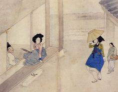 Korean Traditional art by Shin Yun-bok Tiger Painting, Painting Prints, Fine Art Prints, Korean Art, Asian Art, Korean Food, Korean Traditional, Traditional Art, Korean Painting