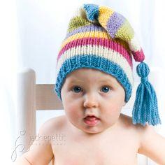 Knitting Pattern Tutorial: Baby Santa Stocking Cap / Pixie Hat / Christmas Hat / Holiday Gift. $6.50, via Etsy.