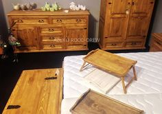 Waxed bedroom furniture made of pine wood, finished with a clear wax. Meble Woskowane – Google+
