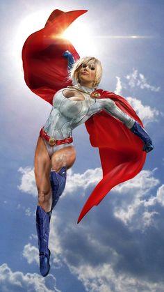 Power Girl WIP by uncannyknack.deviantart.com on @DeviantArt