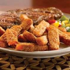 If you haven't tried sweet potato fries, you just have no idea what you're missing! Sweet Potato Steak Fries on OmahaSteaks.com