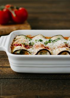 Eggplant Rollatini with Pancetta and Spinach | www.kitchenconfidante.com  Rolls of tender eggplant, cheesy and comforting - a simple and delicious way to eat your veggies!