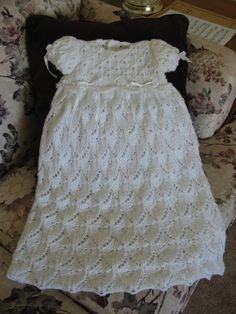 Lacy Scallops Christening Gown
