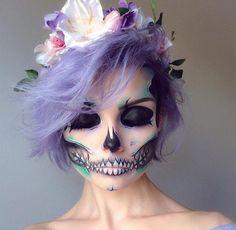 Pastel Dia De Los Muertos (Day of the Dead) Sugar Skull.