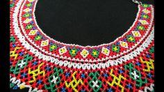 """Колье из бисера """" Силянка""""/ Beaded necklace/ beading - YouTube"""