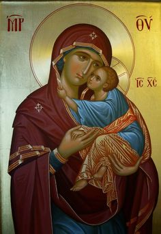 The Virgin Mary with the Christ Child Jesus And Mary Pictures, Images Of Mary, Byzantine Icons, Byzantine Art, Religious Icons, Religious Art, Christian Mysticism, Greek Icons, Russian Icons