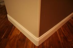 How to install baseboard trim for bullnose drywall for Cost to paint baseboard