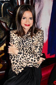 my favorite combo: cheetah & red lips <3