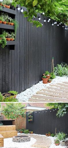 Have a Clean and Inviting Look with White Gravel in Your Backyard. #Moderngarden