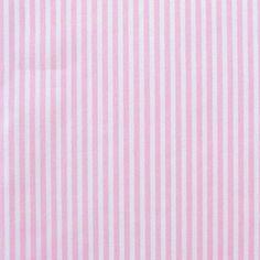 wide MetreHalf 3mm Stripe 112cm Pale Blue  White 100/% Cotton Poplin Dress Fabric Material 44