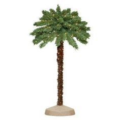 5 ft. Pre-Lit Palm Artificial Christmas Tree - Clear Lights