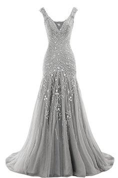 2016 Women's Beaded Mermaid Wedding Evening Dress V-neck ... https://www.amazon.com/dp/B01EFMPSGY/ref=cm_sw_r_pi_dp_x_K4pcybGFHGJ77