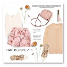 """""""Prints Charming: A Shorts Story"""" by bliznec ❤ liked on Polyvore featuring Michael Kors, The Row, STELLA McCARTNEY, Valentino, printedshorts, polyvoreeditorial and polyvorecontest"""