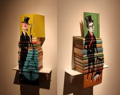 Book sculpture painting