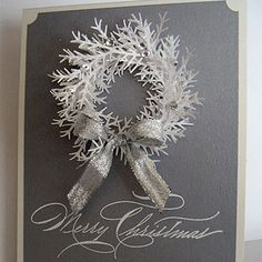Tie It Up Card  Need to make this big enough for the mantel mirror!