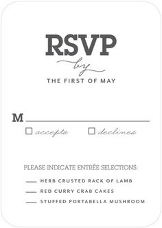 Signature White Wedding Response Cards We the Wed - Front : White
