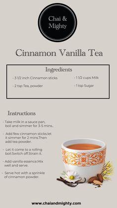 Chai & Mighty is the best tea brand in India. Buy loose tea leaves, tea bags, Assam/Darjeeling tea, white, oolong and green tea online. Milk Tea Recipes, Iced Tea Recipes, Coffee Recipes, Yummy Drinks, Healthy Drinks, Best Tea Brands, Vanilla Tea, Bistro Food, Tea Powder